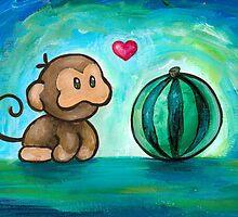 Ukiki, the Yoshi's Island Monkey! by Katie Clark