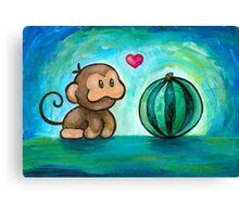 Ukiki, the Yoshi's Island Monkey! Canvas Print