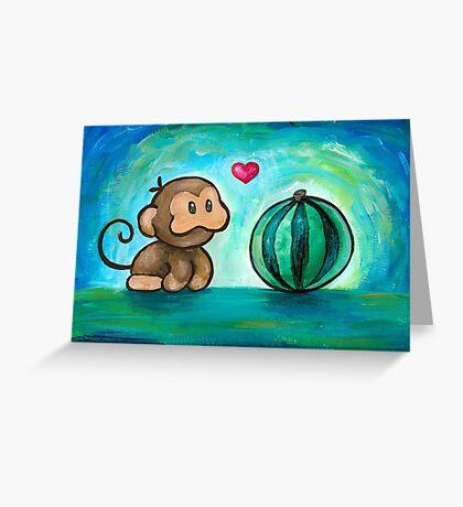 Ukiki, the Yoshi's Island Monkey! Greeting Card