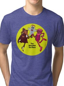 Saturday Morning Disco Dancing Cereal Monsters Tri-blend T-Shirt