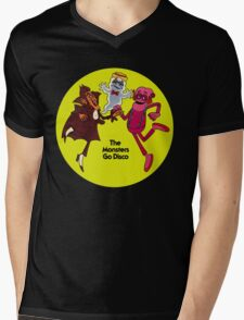 Saturday Morning Disco Dancing Cereal Monsters Mens V-Neck T-Shirt