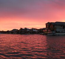 Sunset on the Mandurah Canals by TeenyLeigh