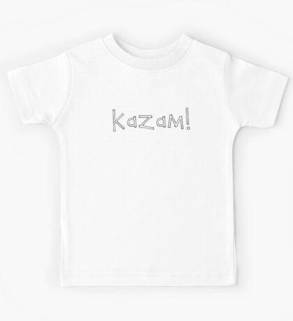 Kazam! (white) Kids Tee