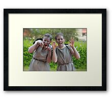 Weeping Angels Framed Print