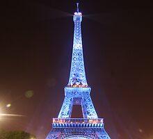 Tower de Eiffel at Night by John Bullen