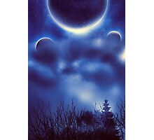 Fantastic Landscape With Planets 2 Photographic Print