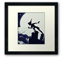 Peter Pan in Blue Framed Print