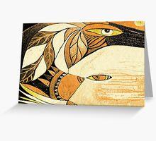 ravens whisper Greeting Card