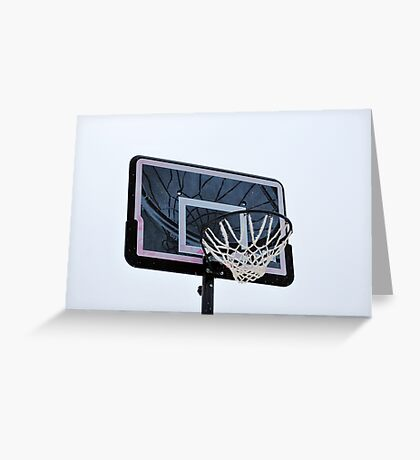 Basketball hoops. Greeting Card