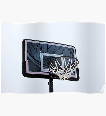 Basketball hoops. Poster