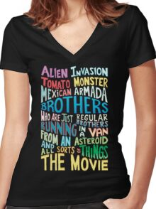 Rick and Morty Two Brothers Handlettered Quote Women's Fitted V-Neck T-Shirt
