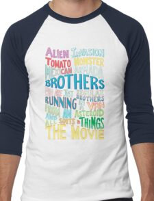 Rick and Morty Two Brothers Handlettered Quote Men's Baseball ¾ T-Shirt