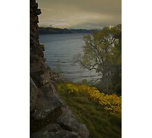 Urquhart Castle - Autumn, Dusk Photographic Print