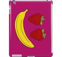 Fruit Smiley, Banana and Strawberry. iPad Case/Skin