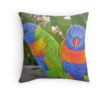 Waiting for a Fruit Lunch. Throw Pillow