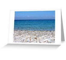 Potami Beach, Samos Island, Greece Greeting Card