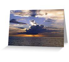 Sunset, Mabul Island, Sumatra  Greeting Card