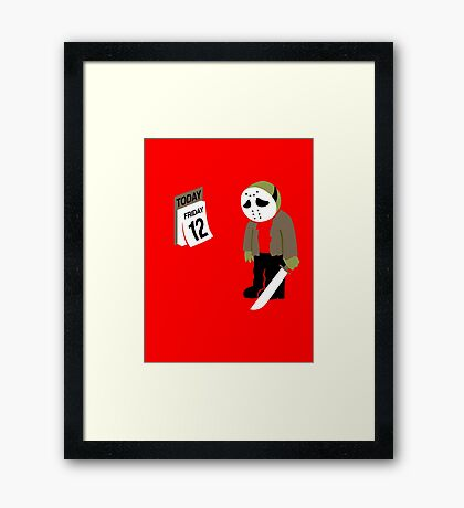 Friday The 13th Parody Framed Print