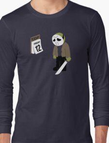 Friday The 13th Parody Long Sleeve T-Shirt
