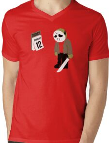 Friday The 13th Parody Mens V-Neck T-Shirt