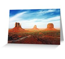 West Mitten East Mitten and Merrick Butte Greeting Card