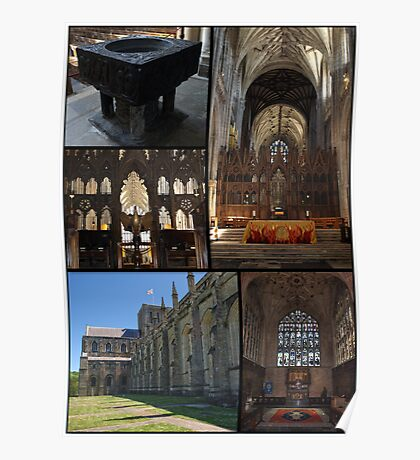 Winchester Cathedral Collage Poster