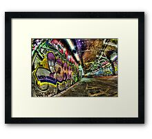 Graffiti Tunnel, London Framed Print