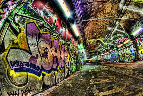 Graffiti Tunnel, London by Guy Carpenter