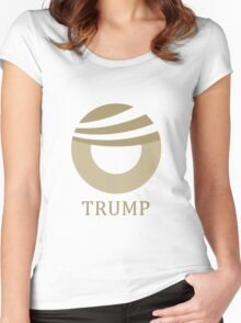 Donald Trump Obama Comb-over Logo Women's Fitted Scoop T-Shirt