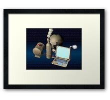 Steam punk computer Framed Print