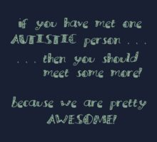 One Autistic Person - Confetti Letters - Dark Background Kids Clothes