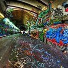 Graffiti Tunnel, London by Guy Carpenter