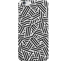 Modern White and Black Stripes Collage Pattern iPhone Case/Skin