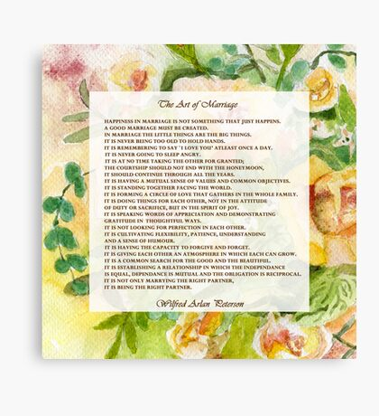 The Art of Marriage Canvas Print