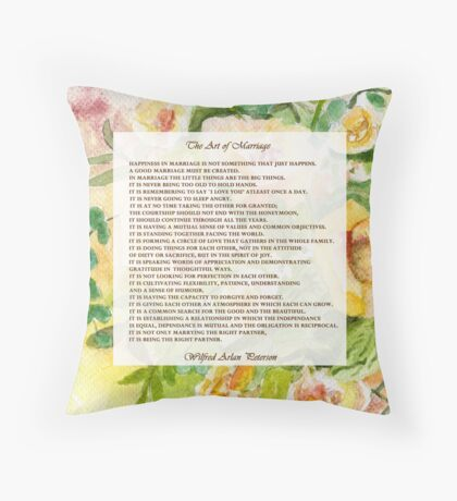 The Art of Marriage Throw Pillow