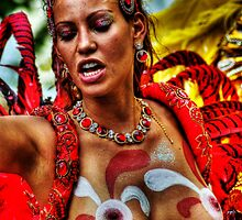 Notting Hill Carnival, Brazilian Dancer by Guy Carpenter