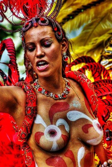 Notting Hill Carnival, Brazilian Dancer by Guy Carpenter