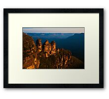 101229 Blue Mountains Three Sisters late afternoon Framed Print