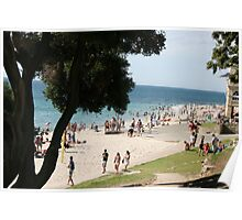 Cooling Off  At Cottesloe Beach Poster