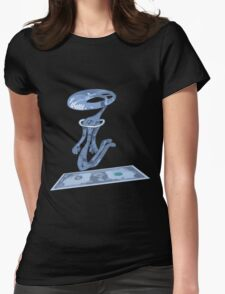 dolar1 azul Womens Fitted T-Shirt