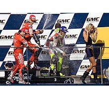 Valentino Rossi - Podium Phillip Island 2007 Photographic Print
