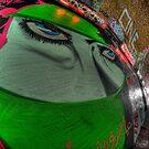Graffiti, Islamic woman in green by Guy Carpenter