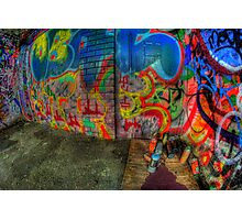 Empty graffiti paint cans Photographic Print