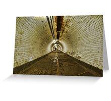 Greenwich Tunnel, London Greeting Card