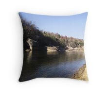 Cumberland River in Kentucky Throw Pillow