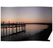 Sunset from the Dock Poster