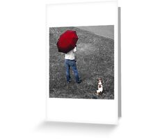One man and his Dog, an English Summer Greeting Card