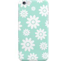 Mint Fun daisy style flower pattern iPhone Case/Skin