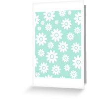Mint Fun daisy style flower pattern Greeting Card