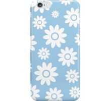 Light Blue Fun daisy style flower pattern iPhone Case/Skin